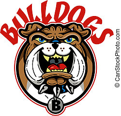 cartoon bulldog mascot