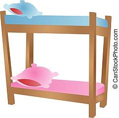 cartoon bunk bed