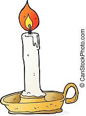 cartoon burning candle