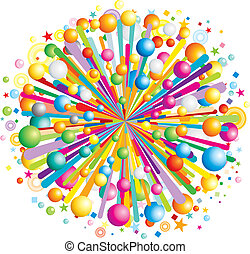 Cartoon Burst - Multicolor cartoon burst, vector