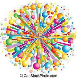 Cartoon Burst - Multicolor cartoon burst, vector