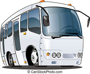 Cartoon bus isolated on white background. Available EPS-8 vector format separated by groups and layers for easy edit