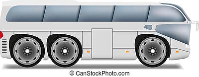 Cartoon bus with big wheels