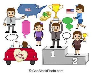 Cartoon Business Characters Illustration
