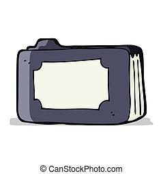 cartoon business folder