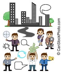 Cartoon Business Graphics Vectors