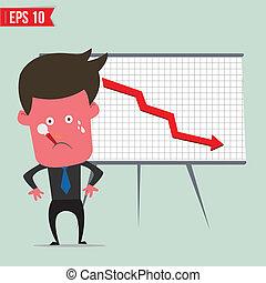 Cartoon business man present information - Vector illustration - EPS10
