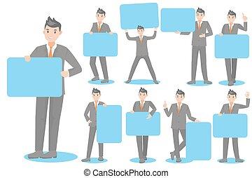 cartoon business man