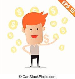 Cartoon business man - Vector illustration - EPS10