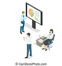 Cartoon Business People Daily Working Moments
