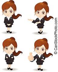 cartoon Business woman