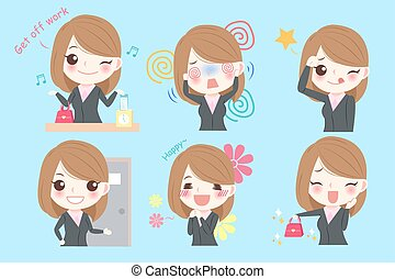 cartoon business woman