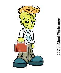 Cartoon Businessman Character