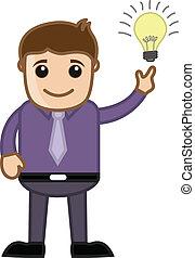 Cartoon Businessman - Got an Idea