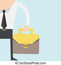 Cartoon businessman in suit