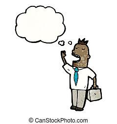cartoon businessman with idea