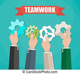 Business team and teamwork concept