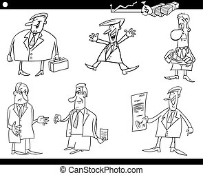 cartoon businessmen set