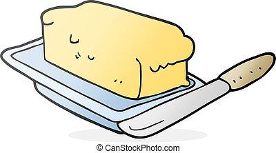 cartoon butter - freehand drawn cartoon butter