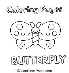 Cartoon Butterfly Coloring Book
