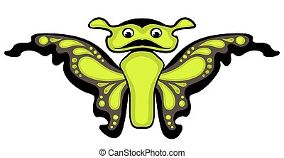 Cartoon butterfly. Isolated