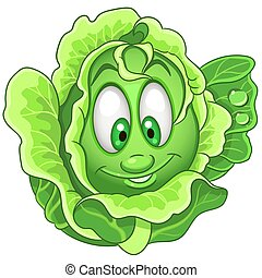 Cartoon Cabbage Vegetable