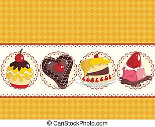 cartoon cake card