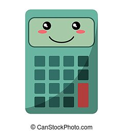 cartoon calculator mathematics accounting icon