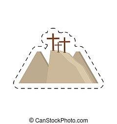 cartoon calvary hill three crosses