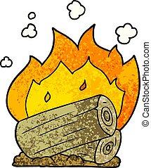 cartoon campfire