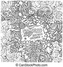 Cartoon Camping frame background
