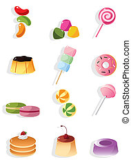 cartoon candy icon  - cartoon candy icon