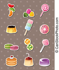 cartoon candy stickers