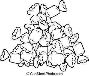 cartoon candy