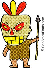 cartoon cannibal shaman