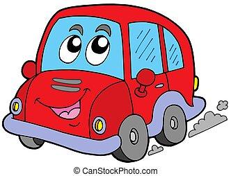 Cartoon car on white background - isolated illustration.