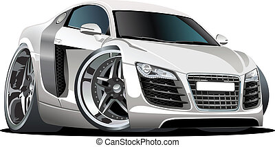 Cartoon car isolated on white background. Available EPS-8 vector format separated by groups and layers for easy edit