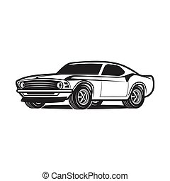 Cartoon Car Isolated on White Background.