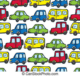 cartoon car pattern