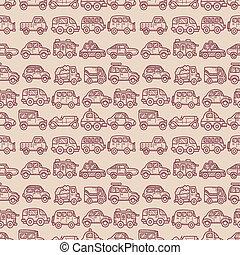 cartoon car seamless pattern