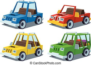 cartoon car set