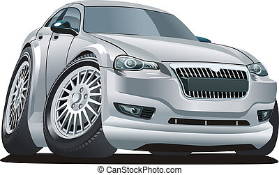 Cartoon car isolated on white background. Available EPS-10...
