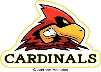 Cartoon Cardinal Mascot