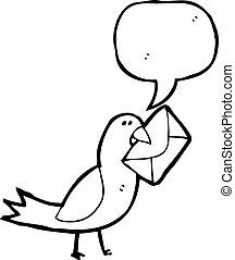 cartoon carrier pidgeon