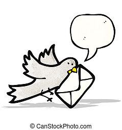 cartoon carrier, pigeon