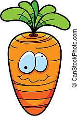 Cartoon Carrot - A cartoon carrot.