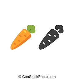 Cartoon Carrot icon