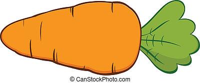Cartoon Carrot. Illustration Isolated on white