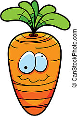 Cartoon Carrot - A cartoon carrot.