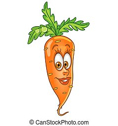 Cartoon carrot vegetable